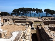 Ruins of Empuries in L'Escala, Maria Geli and Pilar Planaguma.