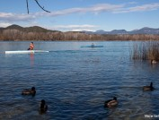 Canoeing in Banyoles, Maria Geli and Pilar Planaguma.
